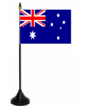 Australia Desk / Table Flag with plastic stand and base.